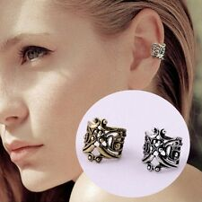Vintage Silver Ear Cuff Upper Helix Cartilage Clip-on Earring Rock Gothic UK Pair Bronze
