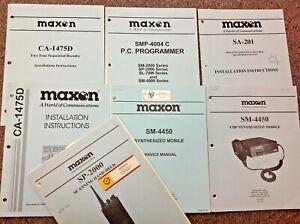 Assorted MAXON Vintage 2 Way Radio Instruction-Service Manuals, 1 per sale