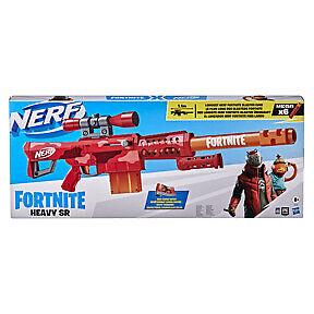 Nerf Fortnite Heavy SR Blaster, Longest Nerf Fortnite Blaster Ever, 6 Mega Darts
