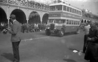 B/W Original Vintage Old Leyland Titan Bus Negative St Helier CGJ174  refB6