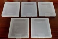 5 Clear Plastic Cartridge Cases Nintendo GameBoy Color GBC GB  Dust Covers