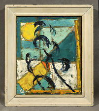 Colorful Abstract Modern Mid Century Oil Panting by Winter Winn1959