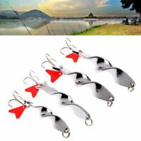 Bass Screw Metal Fish Lure Hook Twist Red Heart Crank baits Spinner Tackle