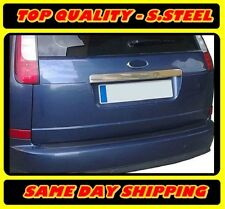 S.STEEL Chrome Rear Trunk Tailgate Trim Cover Ford Focus II Estate 2004-2012