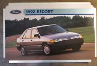 "Ford Escort 1992 Dealer Showroom Promotional Photo Poster 22 1/2"" x 14"""