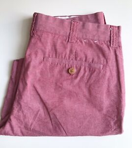 J. Crew Shorts, Red Chambray, Size 31, 8-1/2-inch Inseam, Exc Cond