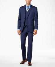 $501 ALFANI men BLUE SLIM FIT 2 BUTTON JACKET BLAZER SPORT COAT SUIT PANTS 40 R