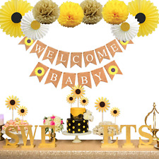 KeaParty Sunflower Baby Shower Party Decorations Supplies Kit, Sunflower Welcome