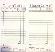 2 Pack G3632 Guest Check Book Waitress Pad 15 Line 50 Page Booklet Tear Off Stub