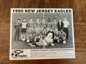 Vintage New Jersey Eagles Soccer 1990 Team Photo
