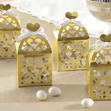 50 élégant or lanterne mariage fiançailles cadeau favour boxes