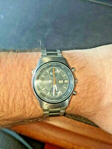 Vintage CITIZEN Chronograph Automatic 8110 Spider Fully Serviced