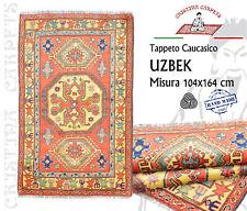 Tappeto Caucasico Uzbek 104x164 cm Geometrico Annodato a mano Lana W1