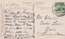 ICKHAM/CANTERBURY : 1912 Rubber Ring cancel on picture postcard