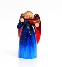 Wendt & Kühn Engel Brokatengel Lichtnapf Lichterengel Blau Geige Violine 9 cm /2