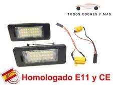 PLAFONES LED MATRICULA SKODA YETI OCTAVIA III, SUPERB VW, SEAT HOMOLGADO E11 CE