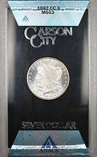 1882-CC GSA Hoard Morgan Silver Dollar $1 Coin ANACS MS-63 with Box & COA (1C)