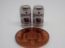 1:12 Scale 2 Empty Singha Beer, Lager  Tins Dolls House Miniature