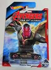 Hot wheels 2015 marvel Avengers age of ultron vision muscle tone 5 / 8 very htf