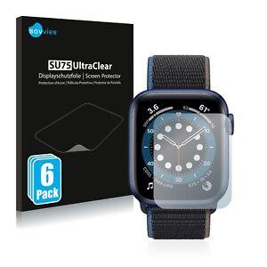 6x Displayschutzfolie für Apple Watch Series 6 / SE (44 mm) Klar Schutzfolie