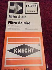 AIR FILTER KNECHT LX583 Ford Transit