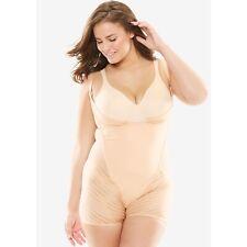 Wear-Your-Own-Bra Body Briefer Shapewear By Secret Solutions, Size 30/32, Nude