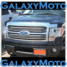 Ford F150 09-14 2014 Truck Chrome Bug Shield Deflector Hood Guard Protector Kit