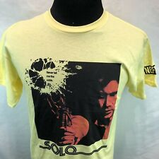 STAR WARS Han Solo Blaster Never Tell Me The Odds Yellow T-SHIRT Medium Y13