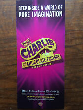 Charlie and the Chocolate Factory ad/flyer Broadway NYC musical Christian Borle