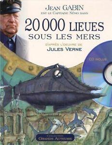 LIVRE + CD AUDIO - 20000 LIEUES SOUS LES MERS / JULES VERNE, JARRE, GABIN, NEUF