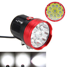 20000Lm 10x CREE XM-L T6 LED Head Front Bike Bicycle Light Headlamp Lamp 3-Modes