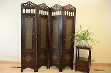 Vintage Charleston Pattern 6 ft. tall Wood Room Divider Screen