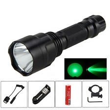 5000lm Q5 Led Verde Linterna 18650 Linterna Caza Tactical Lámpara Luz 1mode