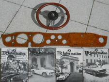 TR 6: Triumph Armaturenbrett (Wurzelholz) , Lenkrad, TR Informationen für Mitgli