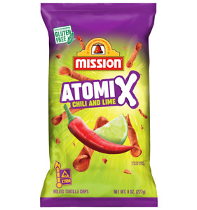Mission Atomix Chili & Lime Rolled Authentic Mexican Tortilla Chips 8 Oz 2 Pack