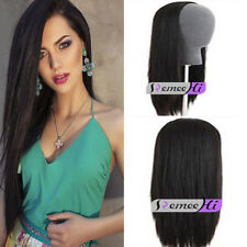 "15""-22""Long Half Wig Hair Fall Half Head Wig 3/4 Hairpieces many colors charming"