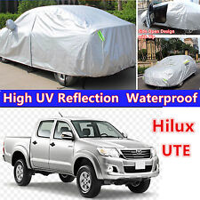 Waterproof UV Dust Rain Snow Resistant SUV Full Car Cover For 4WD 4x4 UTE Hilux