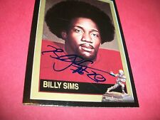 BILLY SIMS SIGNED HEISMAN CARD #44 1992