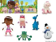 Disney Store Doc McStuffins Lambie Hallie Stuffy Chilly Glo-Bo Plush Doll Set