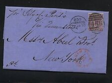Great Britain 51 pl 9 on cover to Us 1872 ship City of Paris Apl0819