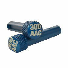 300 AAC Blue Anodized Extended Takedown Pins for .223