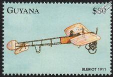 1911 Louis BLERIOT / Blériot XI French Aircraft Stamp (1998 Guyana)