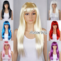 8 Colors 60CM Long Straight Lolita Party Wig Cosplay Fancy Costume Halloween