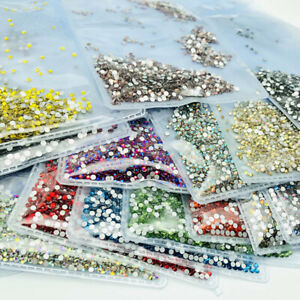 1440pcs 2mm Crystal Nail Art Rhinestones Flatback Glitter Gems Nails Decoration
