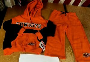 new OSU COWBOYS 2pc Set Toddler 2T Little Boys Hoodie Jacket Sweat Pants Outfit