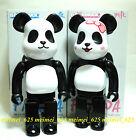 Bearbrick 2014 Medicom Toy x Milk Panda Boy & Girl 400% 2pcs Set Be@rbrick