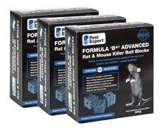 More details for pest expert® formula b brodifacoum rat & mouse poison bait blocks x 45 - (900g)