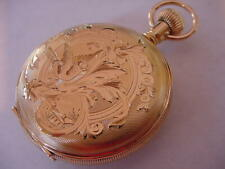 SPECTACULAR 1898 WALTHAM 18k SOLID GOLD HUNTING CASE ANTIQUE POCKET WATCH!