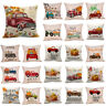 """Pillowslip Harvest Truck Pumpkin Throw Cushion Cover Couch Fall Decorations 18"""""""