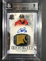 2017-18 The Cup Colin White Rookie Patch Auto /249 Graded BGS 9 MINT 10 Auto